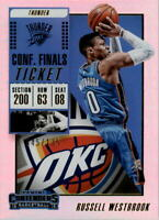 2018-19 Panini Contenders Conference Finals Ticket #43 Russell Westbrook /135