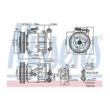 Fits Fiat Marea 185 1.8 115 16V Genuine Nissens A/C Air Con Compressor