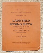 Rare 1945 Wwii Ww Ii United States Army Air Force Boxing Show Program Joe Louis