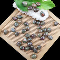 10Pcs Multi-color spiderweb agate Teardrop Vertical perforation loose bead WQ-57