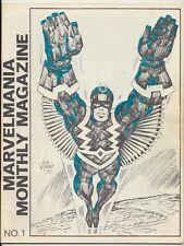 Marvelmania Monthly Magazine #1, Marvel Comics 1970, Nick Fury, Kirby Art
