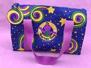 Vintage The Barney Bag vinyl zipper tote school bag 1994 lyons group 90s kids