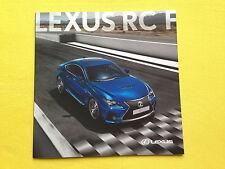 LEXUS RC F carbone Coupe car brochure catalogue de vente novembre 2014 Comme neuf RCF