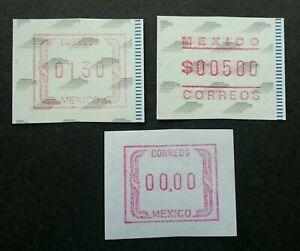 [SJ] Mexico ATM (Frama Label stamp lot) MNH