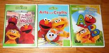 3 NEW Sesame Street DVD's Alphabet Jungle Game/Arts and Crafts/Best Pet in World