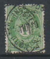 Norway - 1871/5, 1sk Yellow Green stamp - Used - SG 32 or 33