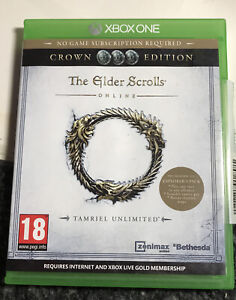 Xbox One The Elder Scrolls: Tamriel Unlimited - Crown Edition - Disc and Box VGC