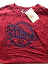 Washington Capitals NHL Mens Red T-Shirt Eastern Conference 2XL Hockey NWT