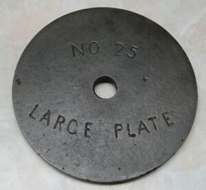 ENTERPRISE FRUIT PRESS PLATE # 25 LARGE SAUSAGE STUFFER LARD PRESS
