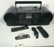 Sharp Vintage Boombox Cd-S77 (Gy) All Functions Working Record Timer Cd Cassette