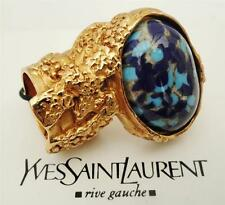 Yves Saint Laurent YSL Arty Plaqué Or Cocktail Ring SZ4 & 5 NEUF