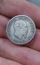 1 LIRA ARGENTO 1863 VITTORIO EMANUELE III IN BUONE CONDIZIONI