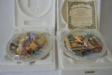 Vintage 1995 Bradford Exchange Disney Winnie The Pooh & Friends Set 2 3D Plates