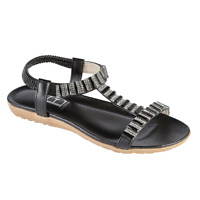 Womens Sandals Shoes By Emma Panache Black strappy sandal Size 3-8 New in Box