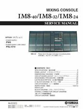 Yamaha IM8-24 IM8-32 IM8-40 Mixing Console Service Manual and Repair Guide