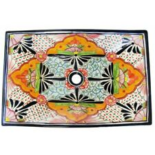 Mexican Talavera Vessel Sink Rectangular Handmade Ceramic VSR02