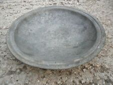 Vintage Antique Authentic  Islam Holy Land Arabic Tin Bronze Large Bowl Plate