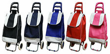 Folding Festival Grocery Shopping Trolley Luggage Bag With Wheels 5 Colours