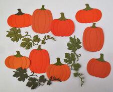 Pumpkin Fall leaves Cardstock Paper Die Cut Embellishment 9pcs Scrapbook
