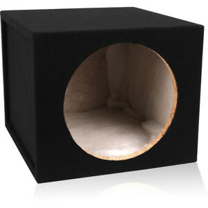 "1.5 Cu Ft Single 12"" Sealed Car Subwoofer 3/4"" MDF Enclosure/Box"