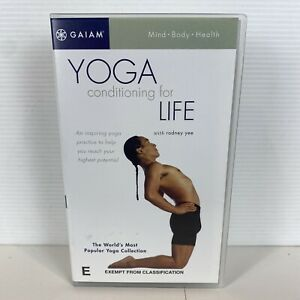 Brand New GAIAM Yoga Conditioning for Life with Rodney Yee VHS Tape