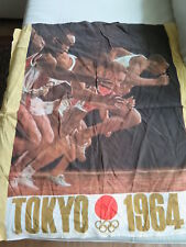 HTF 1964 Tokyo Olympic Games Official Furoshiki Silk Scarf Japan NRR