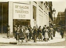 """""""IXème SALON DES TUILERIES Paris 1932"""" Photo originale G. DEVRED (Agce ROL)"""