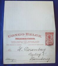 Mayfairstamps Belgian Congo 1912 to Germany Postal Stationery Reply Card wwg1090