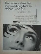 1965 Helena Rubinstein Long Lash Mascara Water Proof Woman Eyes Original Print A