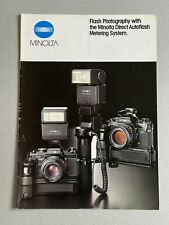 Flash Photography With Minolta, A4 Paper Brochure, 16 Pages,  1990