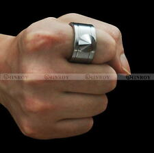 Mini Self Defence EDC Stainless Steel Ring Finger Defense Ring Necklace Tool NEW