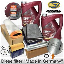 BMW 5er E60 E61 525d & 530d | Inspektionspaket Filtersatz + 10L MANNOL 5W-30 Öl