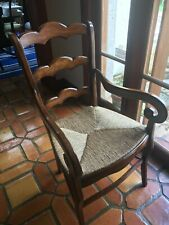 4 English Wood And Rush Armchairs Made By Fauld Furniture Company