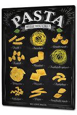 Tin Sign XXL Food Restaurant Pasta metal plate plaque