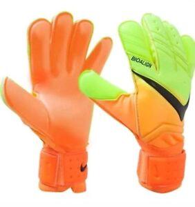 NIKE SPYNE GK GLOVE Soccer Goalie Glove (Orange/Yellow) sizes 6,7,8,9,10,11