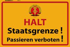 Halt Staatsgrenze ! der DDR Blechschild Metallschild Schild Tin Sign 20 x 30 cm