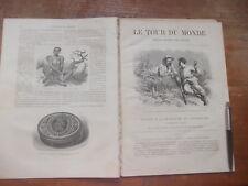 LE TOUR DU MONDE -VOYAGES 626 à 631 -1873: Recheche LIVINGSTONE CENTRE L'AFRIQUE