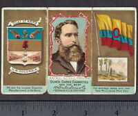 Columbia N126 Duke Rulers Flags & Coat of Arms 3-Fold 19th Century Tobacco Card