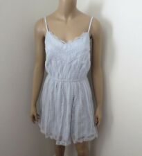 NWT Abercrombie Womens Embroidered Mesh Lace Dress Size XS Light Blue