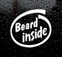 BEARD INSIDE intel  Funny/Joke Car/Van/Bike/Bumper/Window Vinyl Decal/Sticker