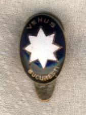 Antique AS VENUS BUCURESTI football PIN Romania SOCCER Button Hole Badge RARE