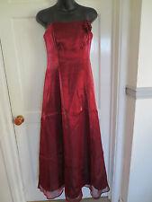 Red Satin Evening Dress - Size 8