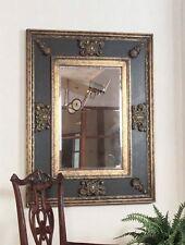 Ornate Oversize Black Gold Wall Mirror | Masculine Antique
