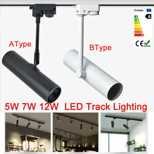LED Track Rail Ceiling Spot Light Downlight Spot Lamp Lighting 5W 7W 12W 2-Line