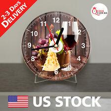 Wine Vintage Table Mantel Shelf Wall CD Clock Kitchen Home Room Decor Xmas Gifts