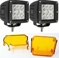 2x 18W Flood LED Work Light 2x Mounting Bracket Polaris 1000 ATV 1620 lumens