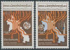 LAOS N°326/327** TELECOMMUNICATIONS, 1978,  ITU Emblem SC# 304-305 MNH