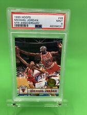 1993-94 Hoops Michael Jordan PSA 9 #28 5th Anniversary Gold Insert Fifth Rare 🔥