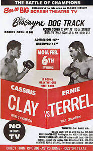 CASSIUS CLAY vs ERNIE TERREL 8X10 PHOTO BOXING POSTER PICTURE MUHAMMAD ALI