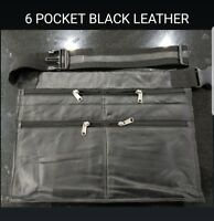 MARKET TRADER EXTRA SOFT 6 POCKET BLACK LEATHER MONEY BAG